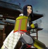 Anime Lady Samurai Stock Photo