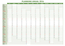 Annual planner spanish 2016.indd Stock Photos