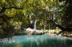 Antalya Kursunlu waterfall wonder of nature, a cool place in the hot summer getaway Stock Photos