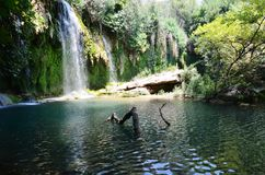 Antalya Kursunlu waterfall wonder of nature, a cool place in the hot summer getaway Royalty Free Stock Photography
