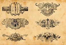 Antique religion symbols Stock Image