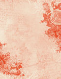Antique Shabby Textured Floral Pink Background Stock Photo