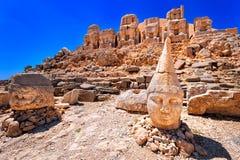 Antique statues on Nemrut mountain, Turkey Stock Photo