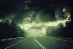 Apocalyptic storm Stock Images
