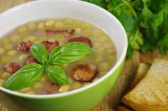 Appetizing pea soup Royalty Free Stock Images