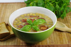 Appetizing pea soup Royalty Free Stock Image