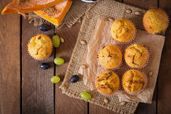 Appetizing and ruddy muffins with pumpkin Stock Image