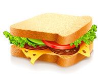 Appetizing sandwich with cheese and vegetables Stock Photo