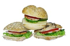 Appetizing sandwiches Royalty Free Stock Photography
