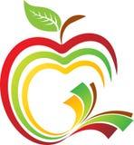 Apple book logo Royalty Free Stock Photo