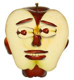 Apple face Royalty Free Stock Photography