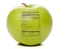 Apple Nutrition Facts Royalty Free Stock Photo