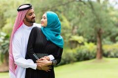 Arabian couple embracing Stock Photos