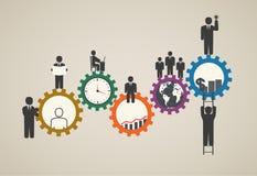 Arbetskraft lagarbete, affärsfolk i rörelse, motivation för framgång Arkivfoton