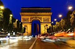 Arc DE Triomphe - Boog van Triomf, Parijs, Frankrijk Royalty-vrije Stock Fotografie