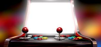 Arcade Game With Illuminated Screen Arkivbilder