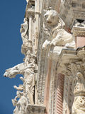 Architectural details of cathedral in Siena.Tuscany Royalty Free Stock Image