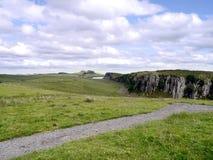 Area delle rupe della buccia sul percorso della parete di Hadrian Immagine Stock Libera da Diritti