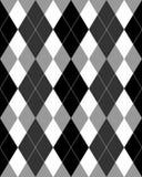 Argyle Pattern Grayscale EPS Stock Photo