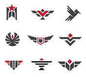 Army and military badges and strength symbols Royalty Free Stock Images
