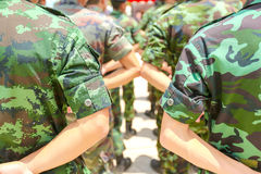 Army parade Royalty Free Stock Images