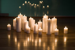 Arrangement of candles Royalty Free Stock Photo