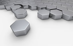 Array of regular hexagons Royalty Free Stock Photo