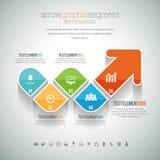 Arrow Graphic Segment Infographic Royalty Free Stock Photos