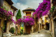 Art beautiful old town of Provence Royalty Free Stock Photography