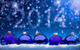 Art Christmas and New year 2014 greeting card Royalty Free Stock Photos