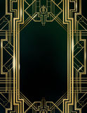 Art Deco Great Gatsby Background Stock Images