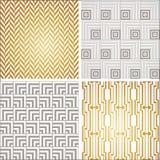 Art Deco seamless vintage wallpaper patterns set Royalty Free Stock Image