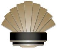 Art Deco Stye Badge Stock Photography