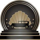Art Deco Stye Badge Royalty Free Stock Images