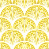 Art deco vector geometric pattern in bright yellow Stock Photo