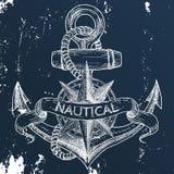 Artigos no tema marinho Fotografia de Stock