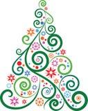 Artistic Christmas tree Royalty Free Stock Image