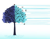 Artistic tree birds Stock Photography