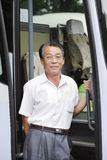 Asian bus driver Stock Photography