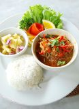 Asian ethnic food prawn curry Stock Images