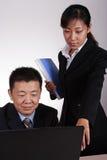 Asian Executive and Secretary Stock Image