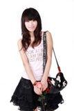 Asian girl with handbag Stock Image