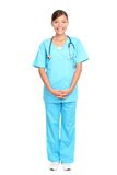 Asian nurse standing Royalty Free Stock Images