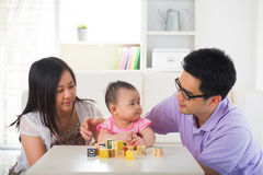 Asian parent playing with baby education concept Royalty Free Stock Photos