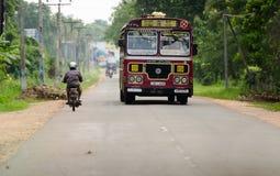 Asian regular public bus in Sri Lanka Stock Photos