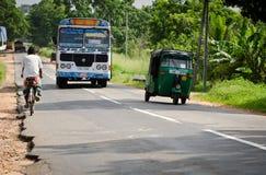 Asian regular public bus in Sri Lanka on a road Stock Photography