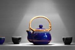 Asian tea pot with cups Stock Images