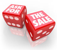 Ask for the Sale Bet Take Chance Selling Customers Rule Royalty Free Stock Images