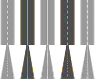 Asphalt roads, with traffic surface marking lines Stock Photography
