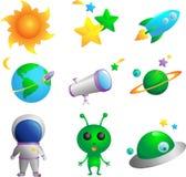 Astronomy icons Stock Photo